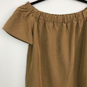 9d68b9d7c4a8 H M Dresses - H M Off-the-shoulder Dress Khaki Beige ...